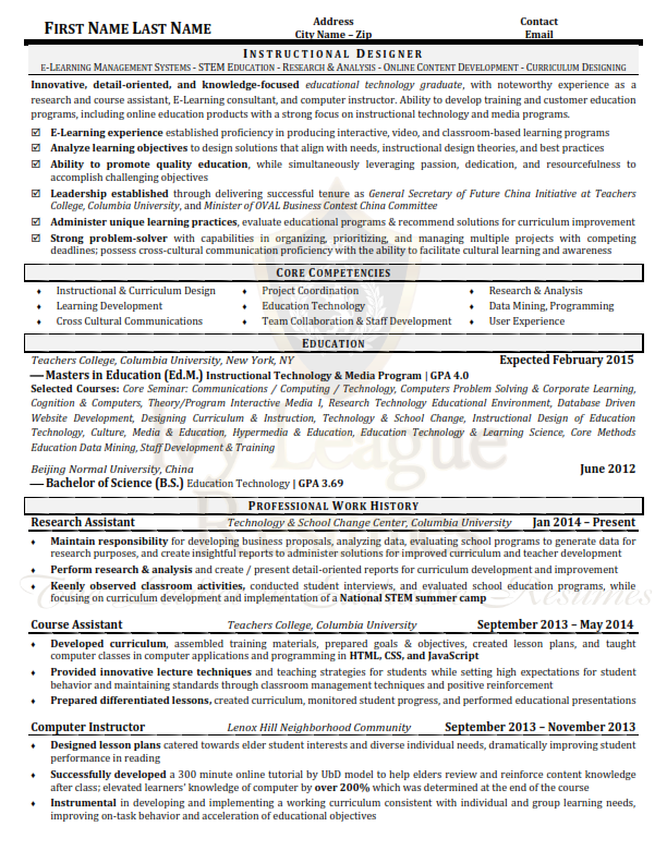 ecq executive qualifications resume doc