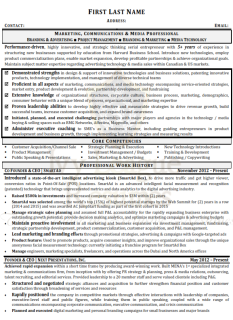 Sample Resume - Marketing, Communications and Media(marked)_001
