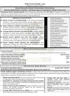 Sample Resume - Project Management(marked)_001
