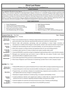 Sample Resume V1-001